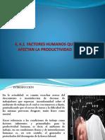 4 factores  humanos que afectan la productivad