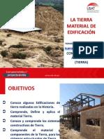 CLASE 1 ALBAÑILERÍA DE TIERRA. LA TIERRA, MATERIAL DE EDIFICACIÓN