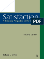 Satisfaction - A Behavioral Perspective on the Consumer