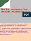 How the Household Influence Consumer Behaviour