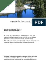 Hidrología superficial(Balance Hidrologico).pptx