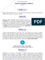 Resumo dos Modelos Atômicos