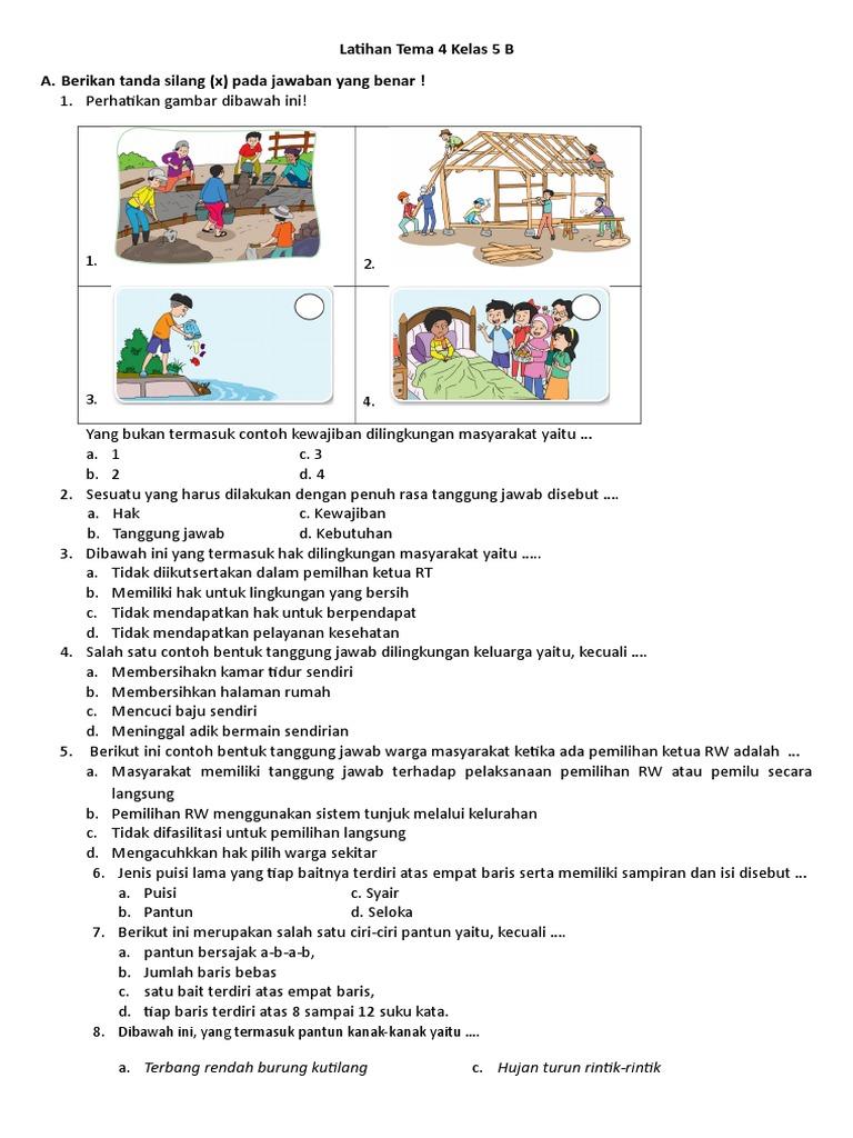 Latihan Kls 5 Tema 4