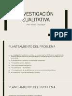 INVESTIGACIÓN CUALITATIVA Medellin
