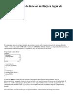 Arduino Usando la función millis() en lugar de delay()