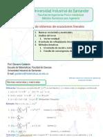 Métodos Númericos-Solución De Sistema De Ecuaciones Lineales B.