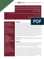El discurso de la Corte Constitucional Colombiana en torno al concepto de habitante de la calle