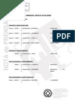 NP JuegosEscolaresCalendarioJornada11, 11-02-20