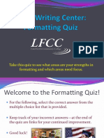 Formatting-Quiz