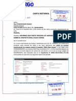 CARTA NOTARIAL N° 185780 31 ENE 2020 a SAGA FALABELLA S.A. RECIBIDO 3 FEB 2020 - CASO MALL PLAZA COMAS