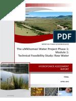 P WMA 11_U10_00_3312_3_3 - Hydropower assessment report_Final