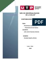 PRESENTACION DE LOS ESTADOS FINANCIEROS PARA MYPES - BRICKS GRANDEZ