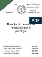 Recopilación de métodos empleados por la psicología