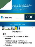 Technical Seminar for Cathodic Protection to GOGC Design