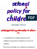 National policy for children