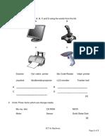 Worksheet 01, Yr 9, ICT