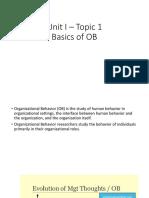 T1 - Basics of OB