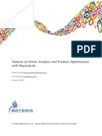 Driver analysis and product optimization using Bayesian networks