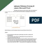Cara Menghapus Halaman Kosong di Dokumen Microsoft Word.docx