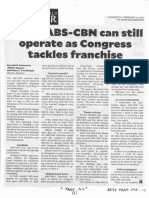 Philippine Daily Inquirer, Feb. 12, 2020, Sotto ABS_CBN can still operate as Congress tackles franchise.pdf