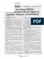 Philippine Star, Feb. 12, 2020, Bill turning NEDA into Cabinet-level agency passes House committee.pdf
