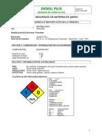 Dioxill Plus - Hoja de seguridad