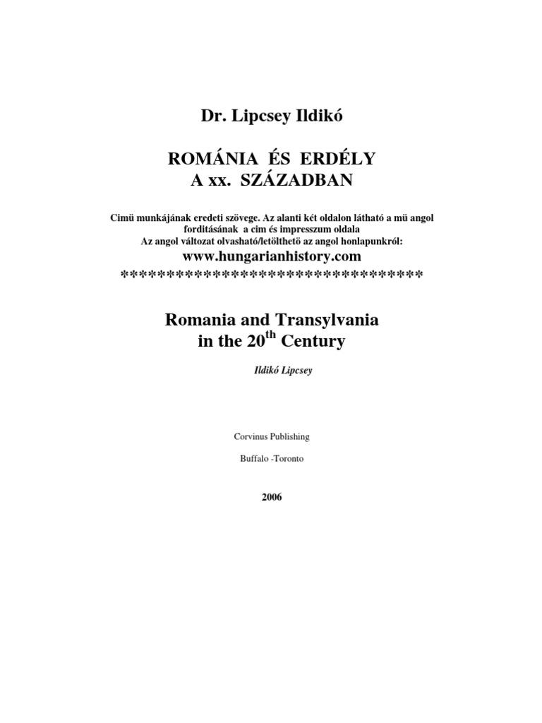 Dr Lipcsei Ildikó Erdély a xxszázadban b2fdb22c64