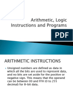 Ch 6 - Arithmetic, Logic Instructions and Programs