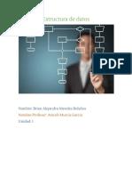 Reporte de estructura de datos