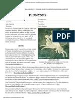 DIONYSUS (Dionysos) - Greek God of Wine & Festivity (Roman Bacchus)