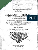 Lexicon talmudicum rabbinicum latine graece etc