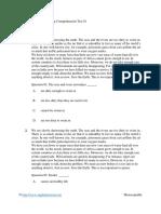 English Grade 11 - Reading Comprehension Test 01