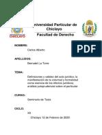 Universidad Particular de            Chiclayo seminarilo