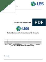 Method Statement for GI Conduits Installation