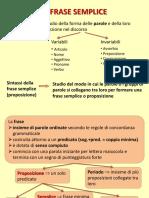 FRASE SEMPLICE / Predicato / Soggetto / complementi