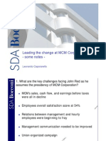 Leading Change at MCM - Notes