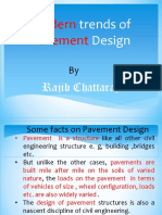 Modern trends of Pavement Design