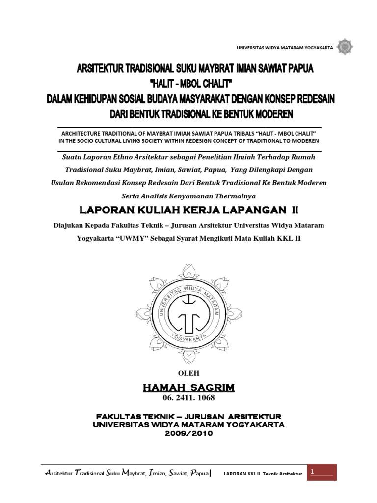 Arsitektur Maybrat Imian Sawiat Laporan Kkl II Hamah Sagrim