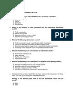 MCQs Questions Financial Management F9