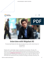 Interview with Wajahat Ali - Institute for Policy Studies