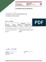 Bray Valve - Hydrostatic Test Report