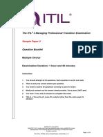 20191107 en ITIL4 MP-TRANS 2019 SamplePaper2 QuestionBk v1.0
