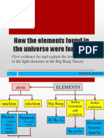 S11 12PS-IIIa-1 How the elements found in the universe were