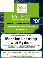 PACE 2.0 Syllabus Machine Learning with Python Program