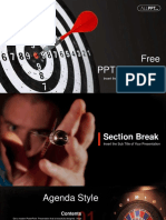 Red Dart Arrow Hitting PowerPoint Templates.pptx