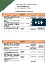 ACTIVITATEA DE PERFECTIONARE             AN SCOLAR 2019-2020