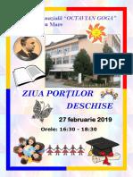 Afis Ziua portilor deschise 2019-01