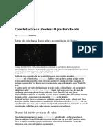 Constelação de Boötes O pastor do céu