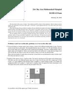 2019 Bay Area Mathematical Olympiad (Grade 12) Exam