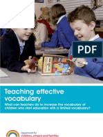 Teaching Effective Vocabulary